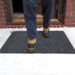 safe in winter heated door mat