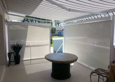 Awning with Shades