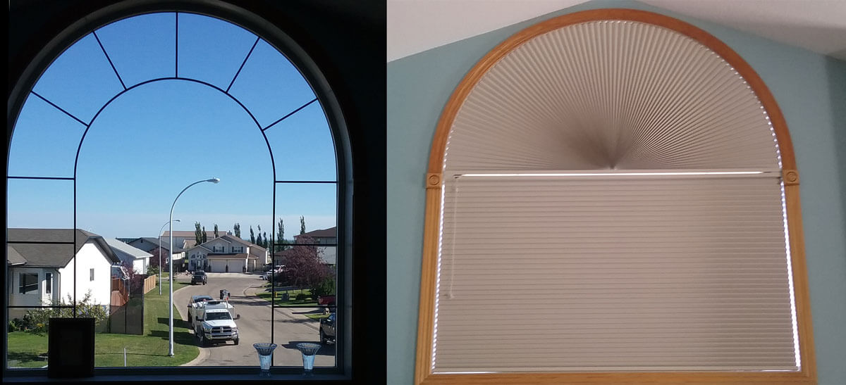 Specialty shape blinds