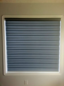 Sheer Horizontal Blinds - closed